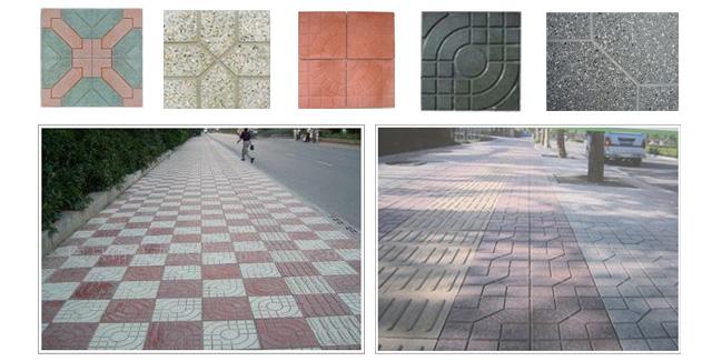 Display color terrazzo floor tile-Terrazzo tile machine ...